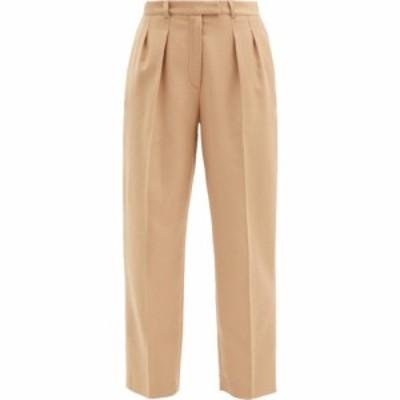 アーペーセー A.P.C. レディース クロップド ボトムス・パンツ Cheryl high-rise wool-flannel trousers Sand beige