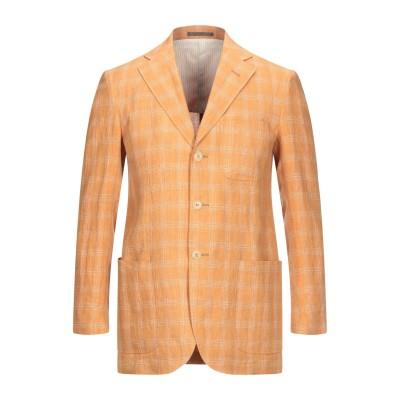 LUBIAM テーラードジャケット あんず色 46 リネン 100% テーラードジャケット
