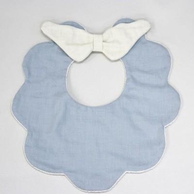ビブ リアン ド ファミーユ Baby もこもこ天使スタイ ブルー K04-02307