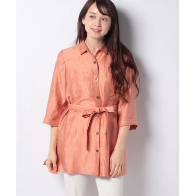 【レリアン】 羽織ブラウス レディース オレンジ系 11 Leilian