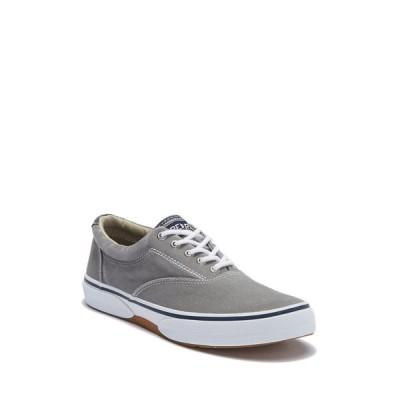 スペリー メンズ スニーカー シューズ Halyard Lace-Up Sneaker - Wide Width Available GREY