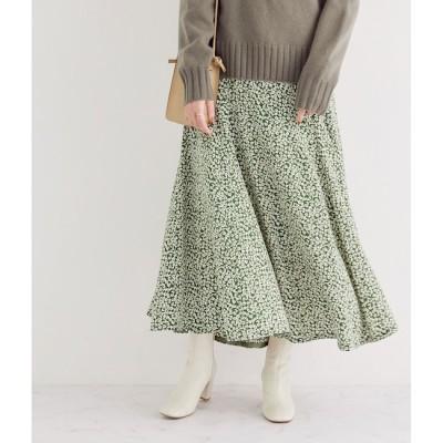 【マドモアゼル ロペ/MADEMOISELLE ROPE'】 小花柄プリントマキシマーメイドスカート