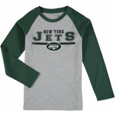 Outerstuff アウタースタッフ スポーツ用品  New York Jets Youth Heathered Gray/Green Fan Gear Field Line Long Sleeve