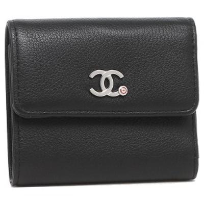 シャネル 折り財布 レディース CHANEL AP0263 B00322 N4505 ブラック【返品OK】
