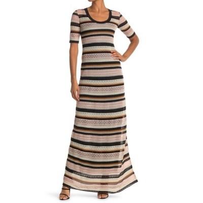 エム ミッソーニ レディース ワンピース トップス Stripe Print Maxi Dress PINK
