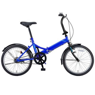 折りたたみ自転車 キャプテンスタッグ クエント FDB201 折り畳み自転車 20インチ 1段変速 軽量 20インチ ブルー