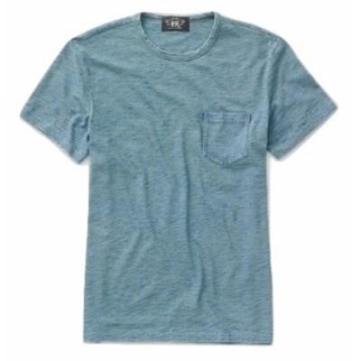 RRL ダブルアールエル メンズ Tシャツ Double R.L Ralph Lauren Indigo Cotton Jersey T-Shirt 半袖 WASHED INDIGO