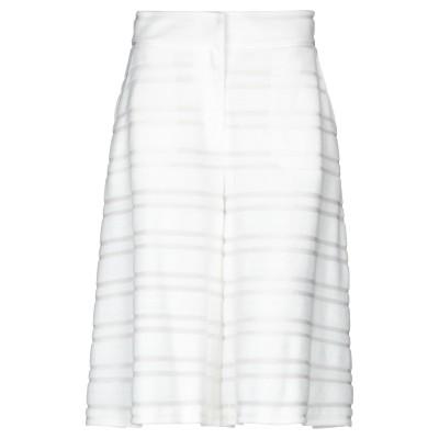 ALTEЯƎGO 7分丈スカート ホワイト M コットン 60% / ナイロン 40% 7分丈スカート