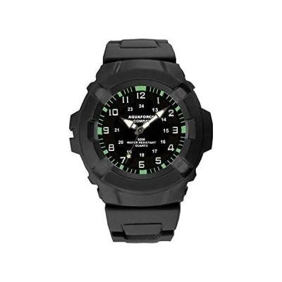 並行輸入品Aqua Force 47?mm直径クォーツCombat Watch,ブラックwithブラック面