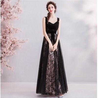 カラードレス ロングドレス ウェディングドレス パーティードレス 発表会 大きいサイズ 結婚式 ワンピース 二次会 ドレス 演奏会用ドレス 安い 送料無料 黒