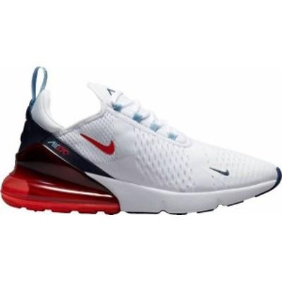 ナイキ メンズ スニーカー シューズ Nike Men's Air Max 270 Shoes White/Midnight Navy/Red