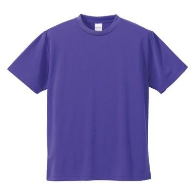 Tシャツ 半袖 メンズ ドライ アスレチック 4.1oz M サイズ バイオレットパープル 無地 ユナイテッドアスレ CAB