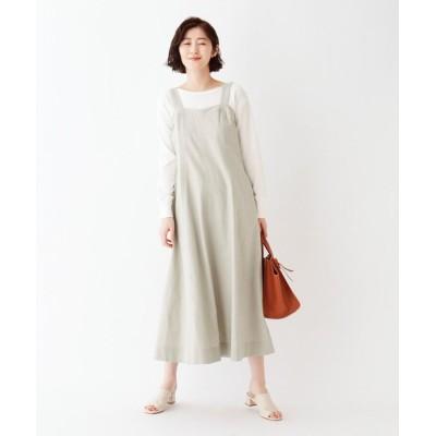 AG by aquagirl(エージー バイ アクアガール) 綿麻パターンフレアキャミワンピース
