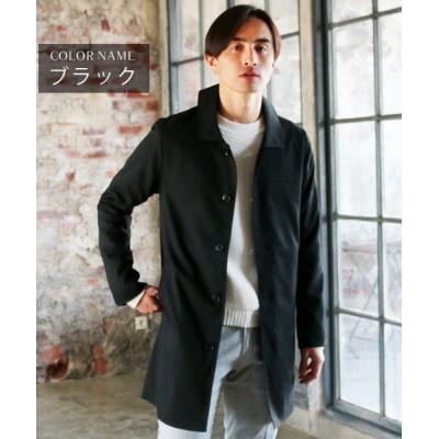 【ザ カジュアル】 (スプ) SPU TRストレッチステンカラーコート メンズ ブラック M THE CASUAL