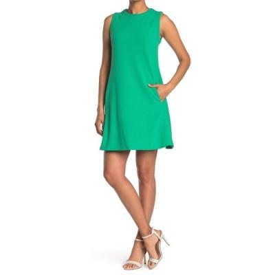 ドナモーガン レディース ワンピース トップス Jewel Neck Mini Shift Dress BRIGHTJADE