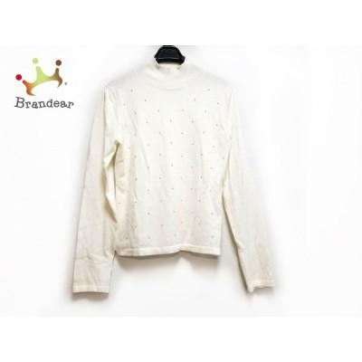 エムズグレイシー 長袖セーター サイズ38 M レディース アイボリー ハイネック/フェイクパール   スペシャル特価 20200401