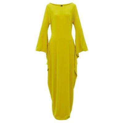 ノーマ カマリ Norma Kamali レディース ワンピース マキシ丈 ワンピース・ドレス cutout-sleeve maxi dress Lime yellow