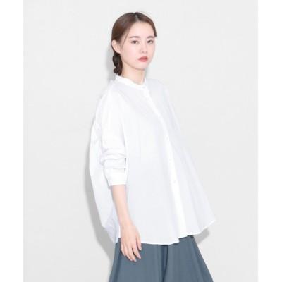 【LASUD】 [Aga] バックギャザーシャツ レディース シロP FREE LASUD