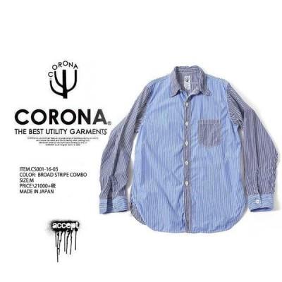 【SOLD OUT】CORONA コロナ CS001 NAVY 1 POCKET SHIRT 長袖 シャツ