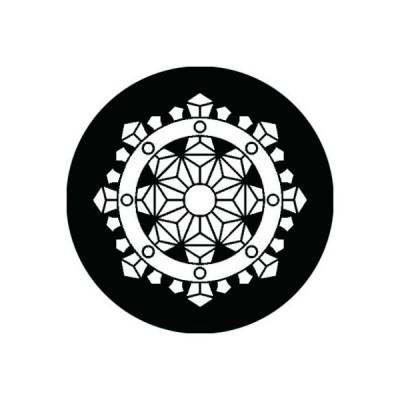 家紋シール 白紋黒地 行者輪宝 布タイプ 直径23mm 6枚セット NS23-1223W