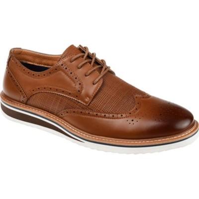 バンス Vance Co. メンズ 革靴・ビジネスシューズ ウイングチップ ダービーシューズ シューズ・靴 Warrick Wing Tip Derby Brown Vegan Leather