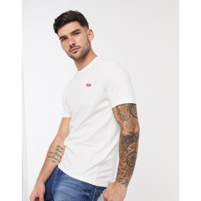 リーバイス Levi's メンズ Tシャツ トップス original small batwing t-shirt in white ホワイト