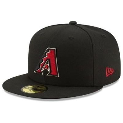 ニューエラ メンズ 帽子 アクセサリー Arizona Diamondbacks Authentic Collection 59FIFTY Cap Black/Red