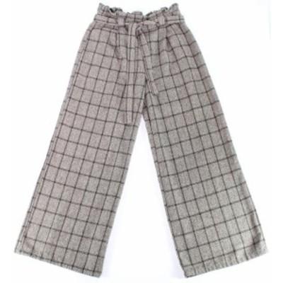 Plaid  ファッション パンツ Favlux Womens Dress Pants Black Size Small S Paperbag-Waist Plaid