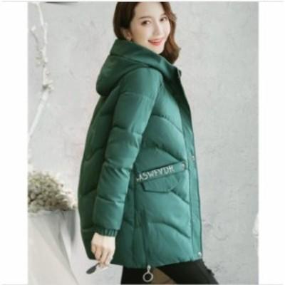 ダウンコート 中綿 ダウンジャケット 女性 ロング丈 アウター 軽量 防風 キレイめ 暖かい フード付き フォーマル 通勤 OL オフィス 着痩