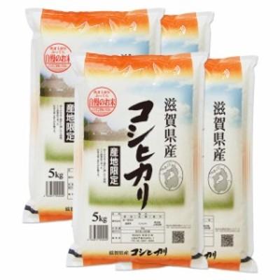 新米 コシヒカリ 20kg 送料無料 滋賀県 令和2年産 (米/白米 5kg×4)