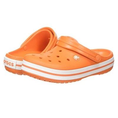 クロックス Crocband メンズ クロッグ ミュール Orange/White