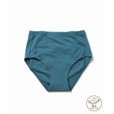 レディース エミリーウィーク 【吸水ショーツ】Organic Cotton Eco ロングサニタリーショーツfor RESET ブルー 38