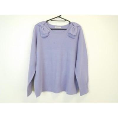 ローズティアラ Rose Tiara 長袖セーター サイズ42 L レディース 美品 パープル【中古】