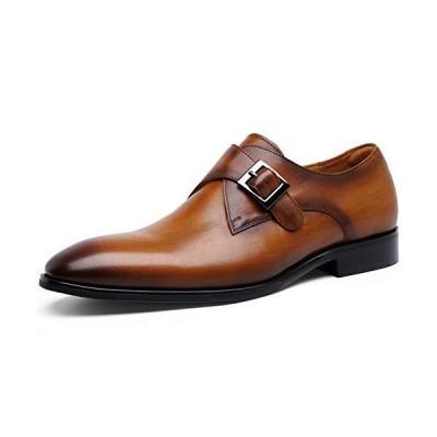 [フォクスセンス] ビジネスシューズ 本革 革靴 紳士靴 メンズ ドレスシューズ 本革 モンクストラップ ブラウン 27.0cm 892703-02