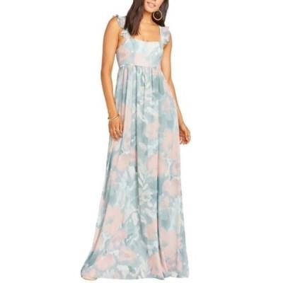 ウミーユアムーム レディース ワンピース トップス June Floral Print Ruffle Strap Gown SAGE I DO