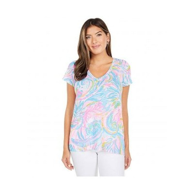 Lilly Pulitzer リリーピューリッツァー レディース 女性用 ファッション Tシャツ Etta Top - Multi Carnivale Coral