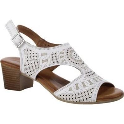 スプリングステップ Spring Step レディース サンダル・ミュール シューズ・靴 Chains Slingback White Leather