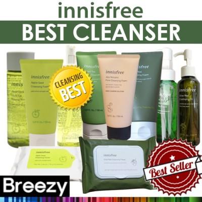 BREEZY ★ [Innisfree] Best Cleanser / Foam Cleanser / Cleansing Oil / Tissue /Clay Mask / gel-to-foam