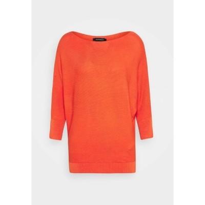 モア アンド モア ニット&セーター レディース アウター DOLMANSLEEVE - Jumper - orange