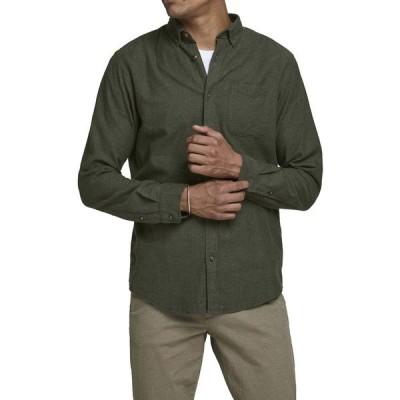 ジャック アンド ジョーンズ メンズ シャツ トップス Classic Melange Slim Fit Shirt FOREST NIGHT SLIM