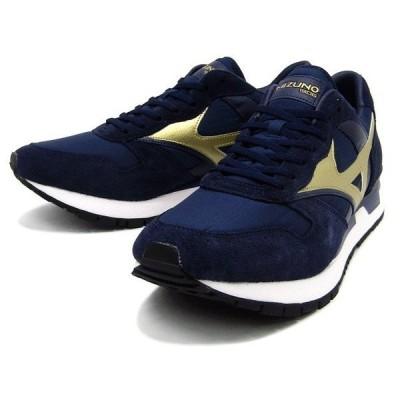 MIZUNO ミズノ GV87 D1GA1708 14 スニーカー 靴 レディース 女性 ネイビー/ゴールド