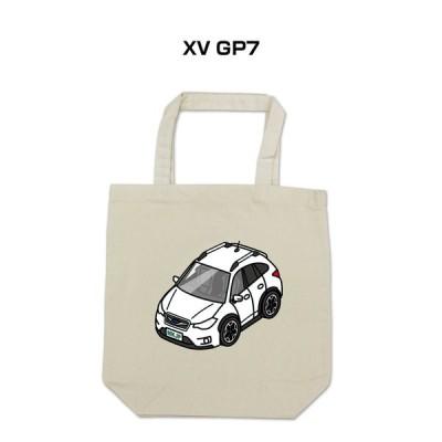 MKJP トートバッグ エコバッグ 車好き プレゼント 車 メンズ 男性 かっこいい スバル XV GP7 ゆうパケット送料無料