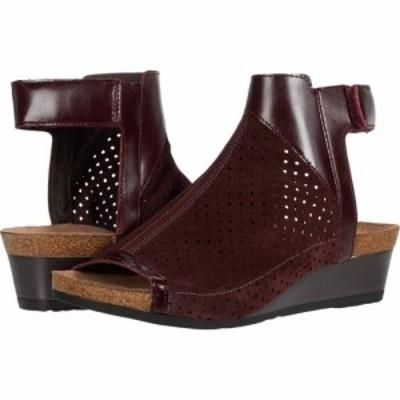ナオト Naot レディース サンダル・ミュール シューズ・靴 Oz Burgundy Suede Perforated/Bordeaux Leather