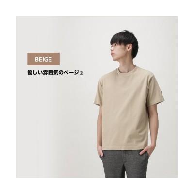 【マックハウス】 DISCUS ディスカス 無地USAコットン袖ワンポイントTシャツ R0068-326 メンズ ベージュ L MAC HOUSE