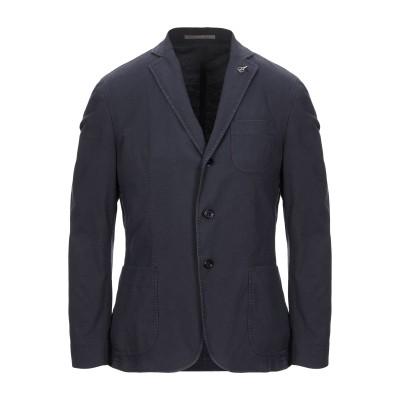 パオローニ PAOLONI テーラードジャケット ダークブルー 50 コットン 87% / リネン 11% / ポリウレタン 2% テーラードジャケ