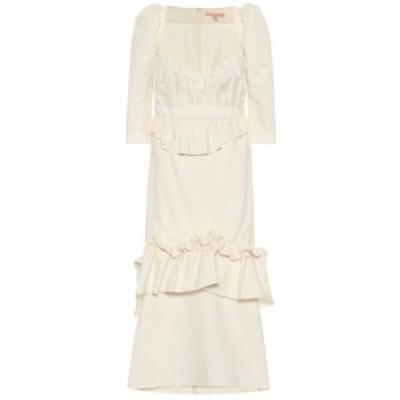 ブロック コレクション Brock Collection レディース ワンピース ミドル丈 ワンピース・ドレス Okiku cotton and linen midi dress Natur