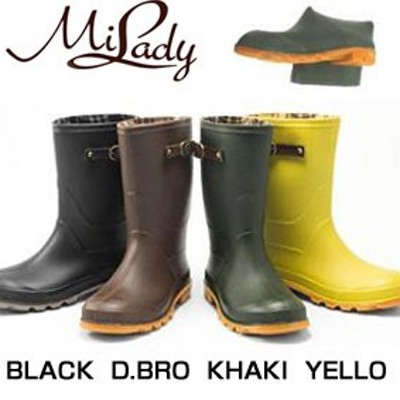 MILADY(ミレディ―) ロングレインブーツ長靴 ML814(RO) 【レディース】