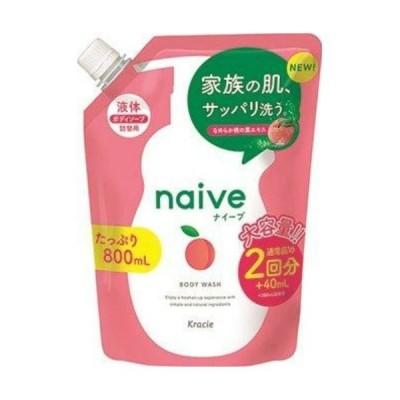 【お一人様1個限り特価】クラシエ ナイーブ ボディソープ 桃の葉エキス配合 詰替用 800ml