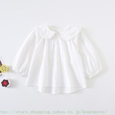 入学式 ブラウス シャツ 女の子  長袖 韓国子供服 ブラウス キッズ ジュニア フォーマル 女の子 80 90 100 110 120  卒園式 卒業式 可愛い