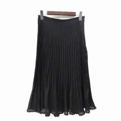 【中古】KOJI WATANABE STYLE スカート 9 M 黒 ブラック ポリエステル レース 無地 シンプル レディース